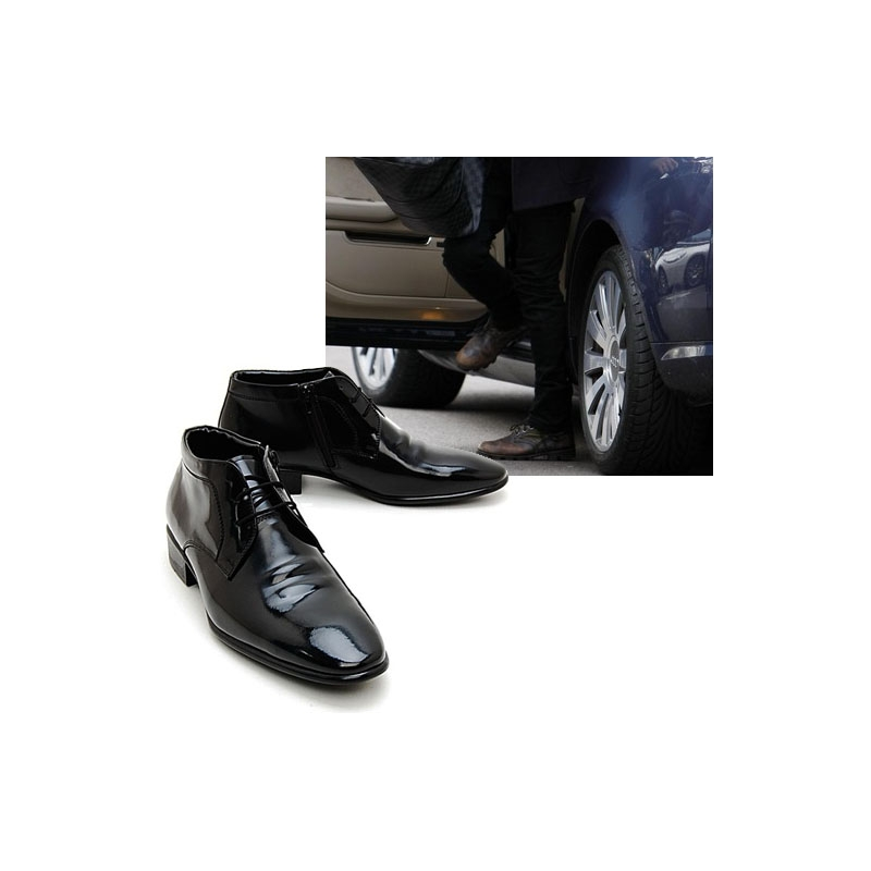 Men S Black Leather Lace Up Ankle Boots