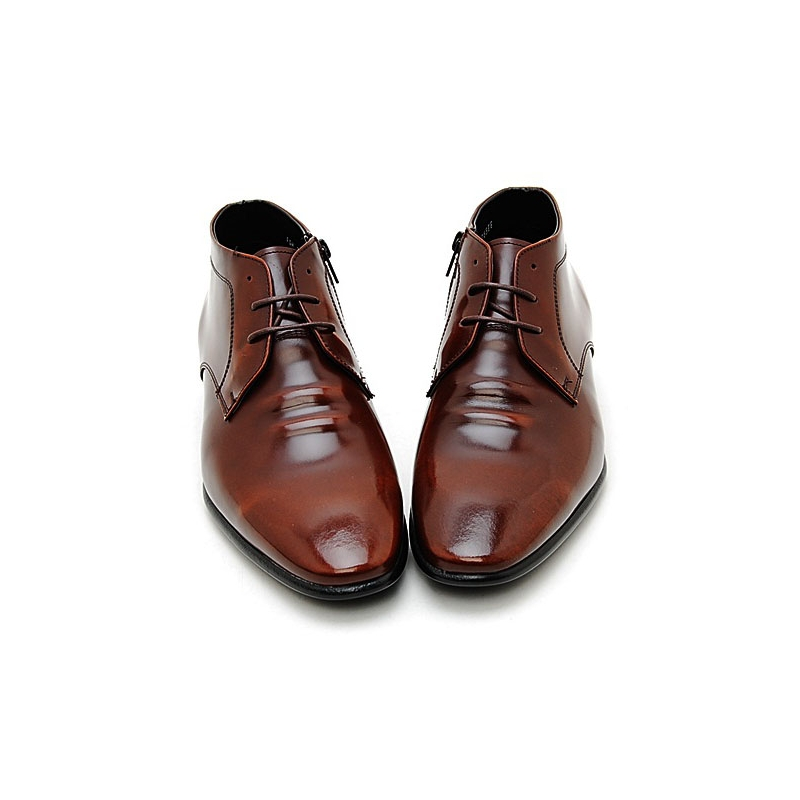 Men's plain toe leather boots