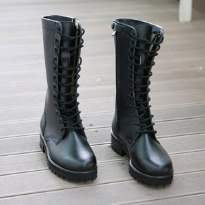 womens combat sole mid-calf boots