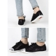 womens increase height velcro hidden insole wedge ankle urban chic high top sneakers black