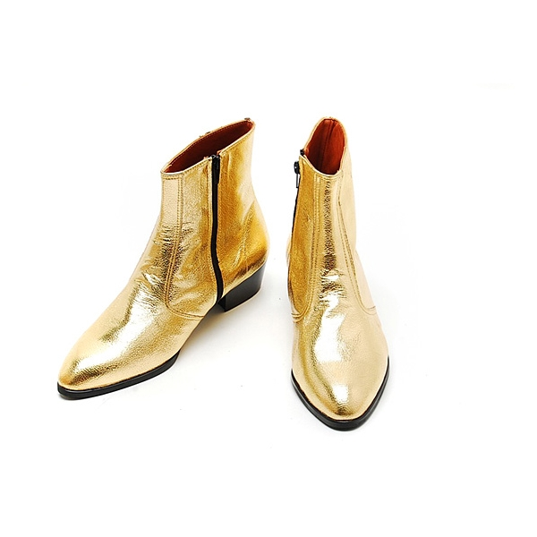 Gold Boots For Men Mens Glitter Gold