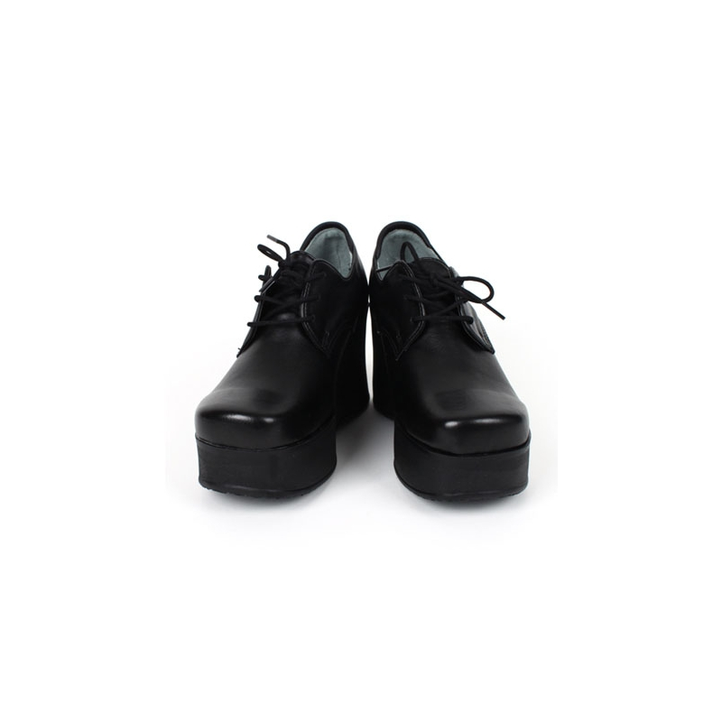 Womens High Platform Wedge Lace Up Ankle Oxford Rock Chic