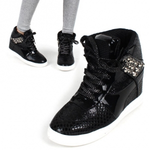 Women's Black High Top Fashion Sneakers http what is fashion com