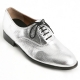 Mens oxford Lace Up dress shoes glitter silver made in KOREA US 5.5 - 11.5