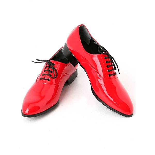 Red shoe laces for dress shoes