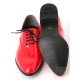 Mens oxford Lace Up dress shoes glitter red made in KOREA US 5.5 - 10.5