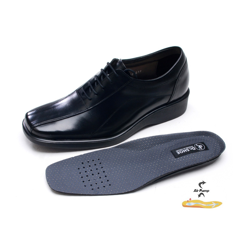 4fd43d7e7d1 Mens black real Leather 2.16 inch UP Lace Up Oxford stitch dress shoes made  in KOREA US 5.5 - 10