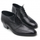 Mens chic vintage real leather round toe line stitch lace up zip low heel ankle boots