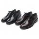 Mens real lealther round toe wing tip punching stitch lace up dress shoes oxford