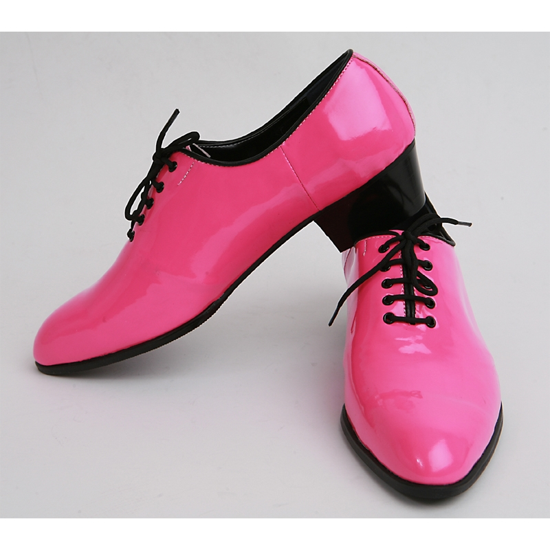Mens made by hand oxfords 1.77 inch heel Dress pink shoes