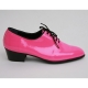 Mens Pink Lace Up high heel Dress dance party shoes made in KOREA US 5.5 - 10.5