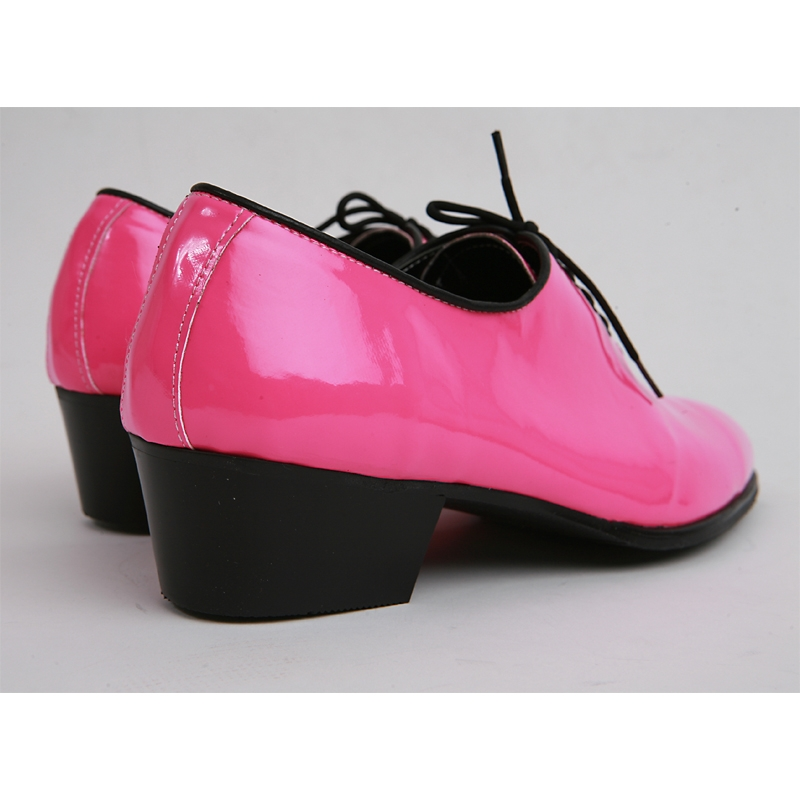 Mens Made By Hand Oxfords 1 77 Inch Heel Dress Pink Shoes