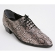 Mens snake pattern Lace Up high heel Dress dance party shoes made in KOREA US 5.5 - 10.5