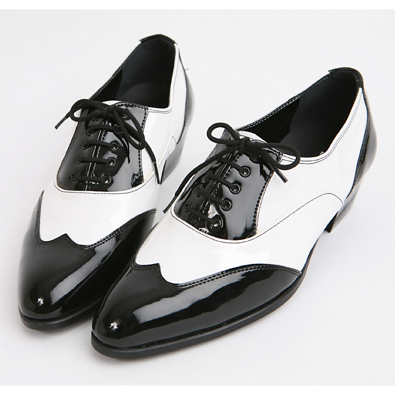 Mens Black Amp White Wingtip Oxfords