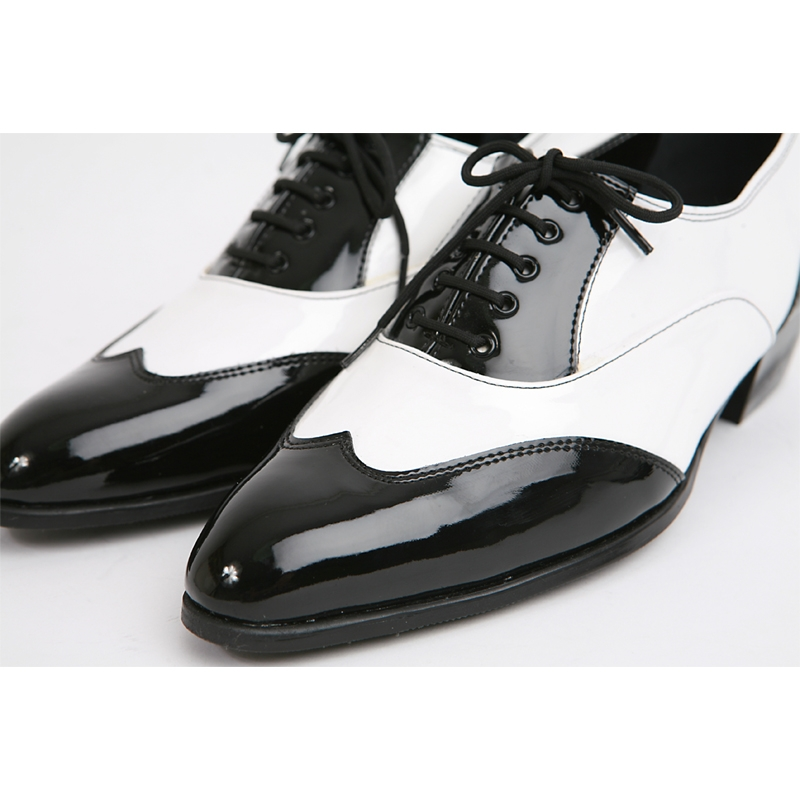 Patent Leather Spats Dance Shoes