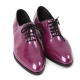Mens round toe glossy Purple dance lace up oxfords high heel dress shoes by Korea