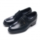 Mens front strap real leather round toe air pump increase height hidden insole loafers