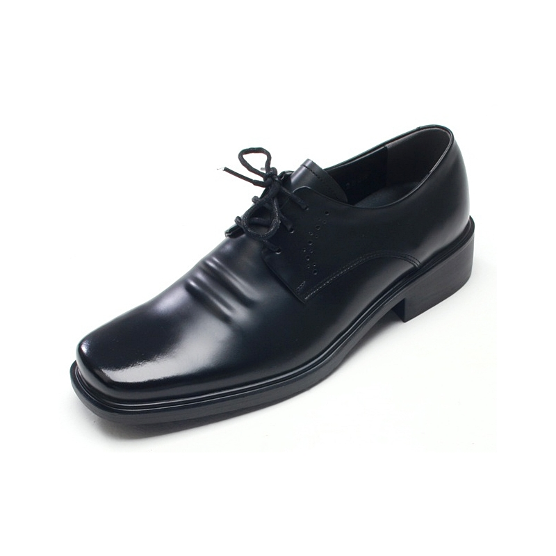 Mens square toe wrinkles cow leather Dress shoes
