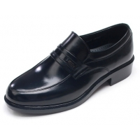 Mens round toe u line stitch black cow leather urethane sole loafers Dress shoes US 5.5 - 10.5