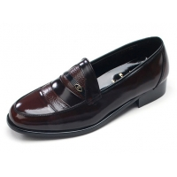 Mens two tone u line stitch round toe brown cow leather rubber sole loafers dress shoes US 5.5 - 10