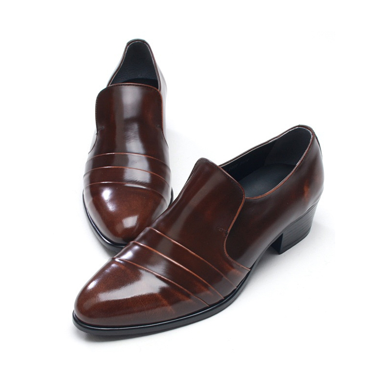 mens diagonal wrinkles loafers