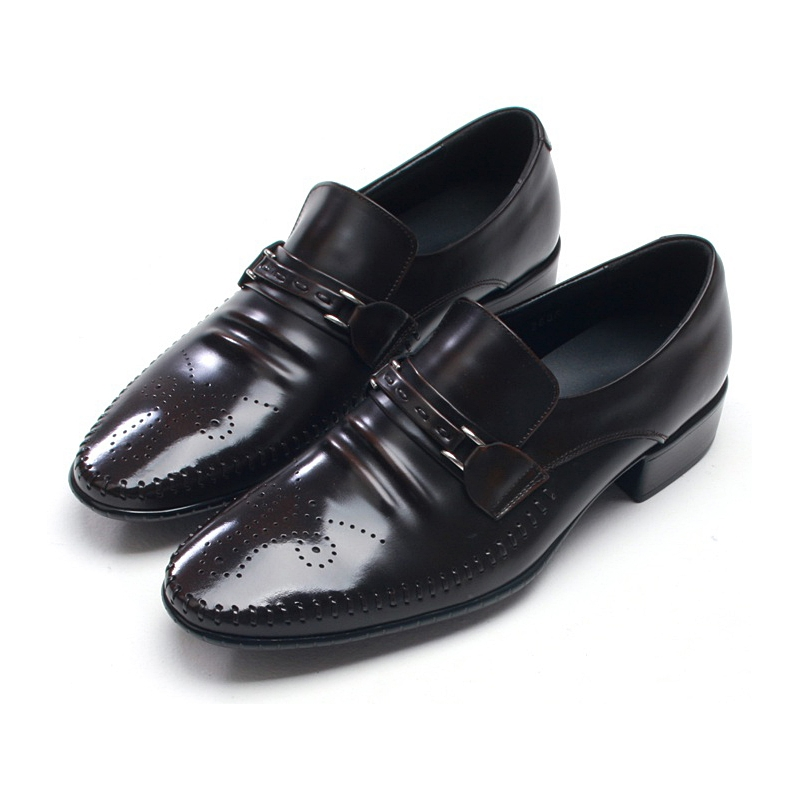 mens edge stitch punching wrinkles loafers
