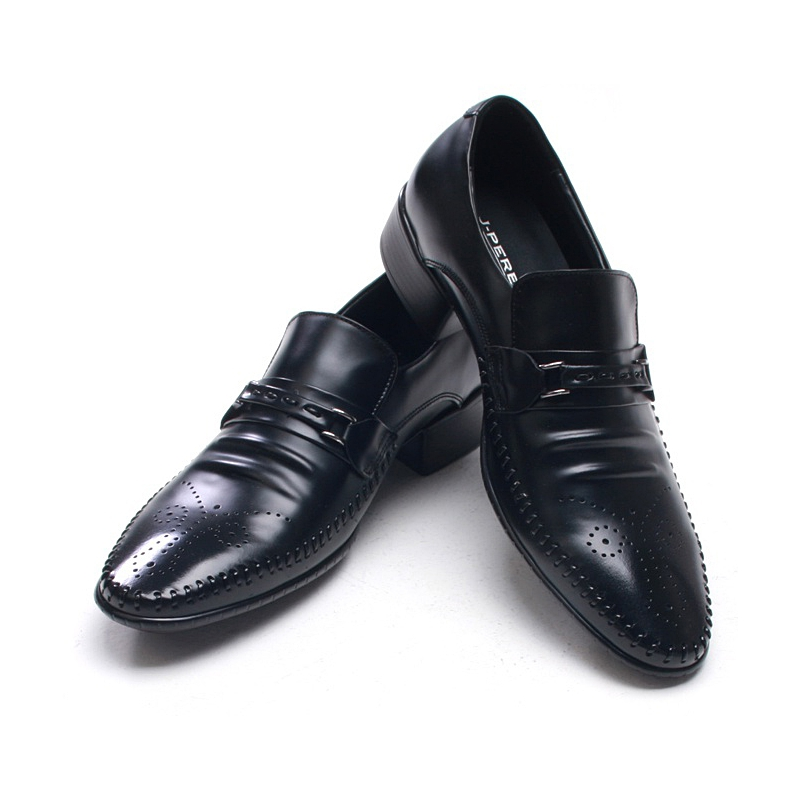 mens edge stitch punching loafers