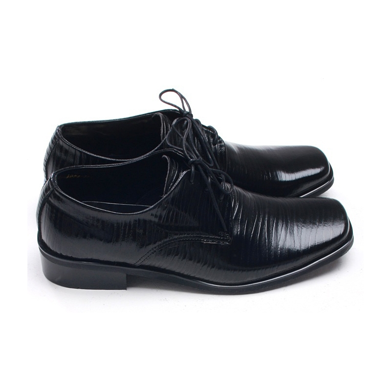 mens pointed square toe wrinkles dress shoes
