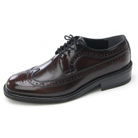 Mens wingtips punching brown cow leather urethane sole lace up Dress shoes US 5.5 - 10.5