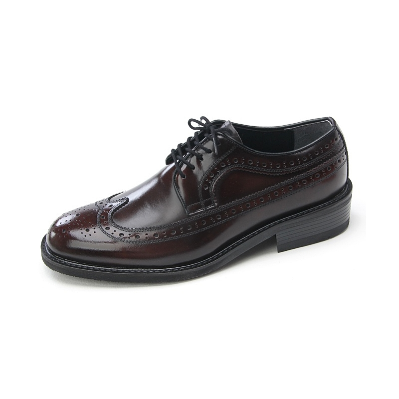 mens wingtips brown cow leather dress shoes