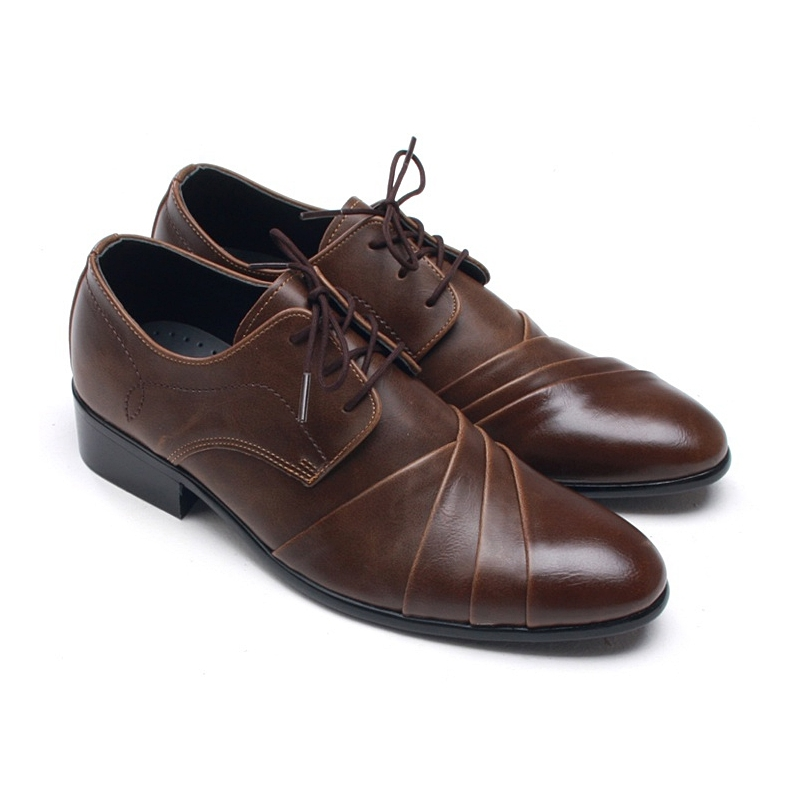 mens wrinkles lace up dress shoes