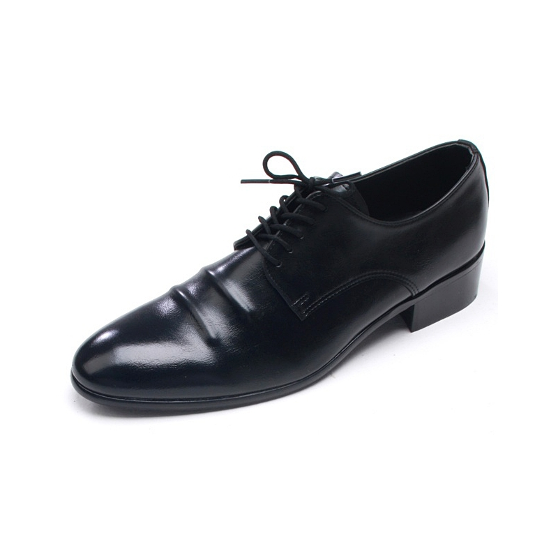 mens chic toe wrinkles lace up shoes