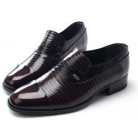 Mens straight tip wrinkles brown cow leather rubber sole loafers dress shoes US 5.5 - 10
