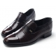 Men's straight tip wrinkles brown cow leather rubber sole loafers US 5.5 - 10
