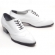 Mens white real cow Leather 1.57 inch heels Lace up oxfords dress shoes made in KOREA US 6.5-10