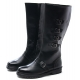 Mens multi buckle strap decoration side zip combat sole cow leather mid calf riding boots US 6.5 - 10.5
