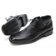 Mens square toe black cow leather side zip urethane sole lace up ankle boots US 6.5 - 10.5