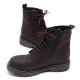 Mens contrast stitch matt brown eyelet lace up synthetic leather side zip military ankle combat boots US4-10.5