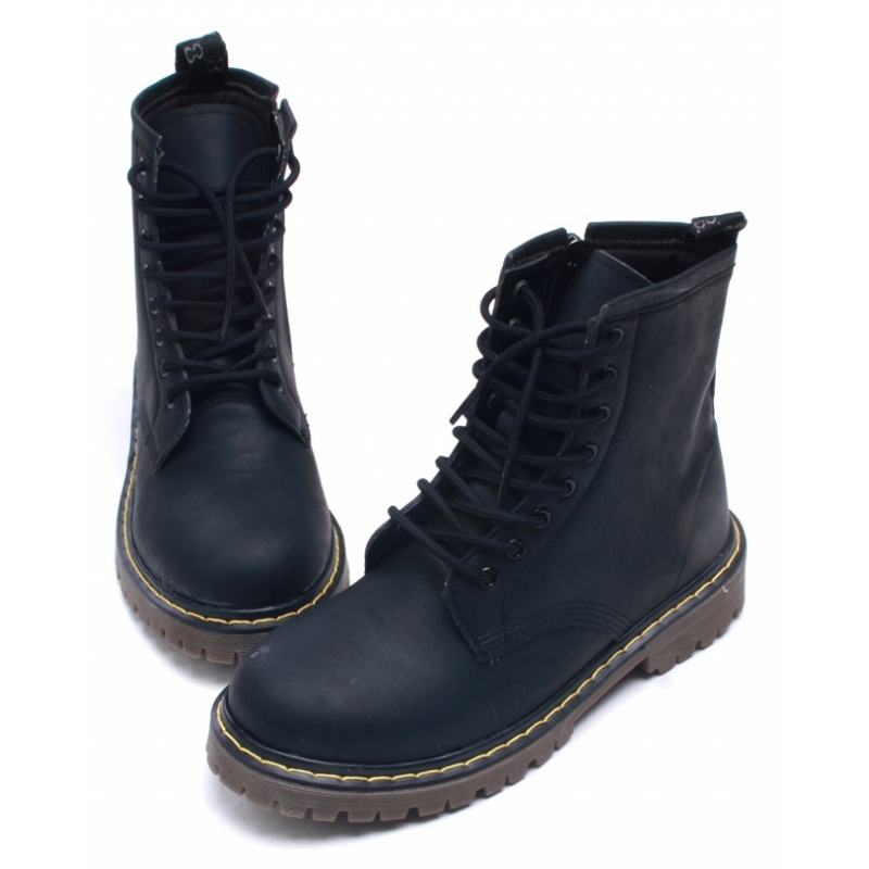 Zip Up Combat Boots - Cr Boot