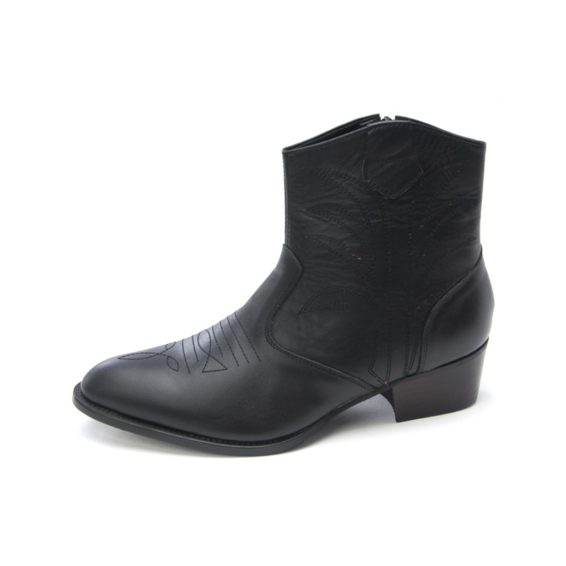 Mens punk goth western ankle boots