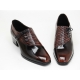 Mens real leather side Lace Up 1.77 inch heels shoes brown made in KOREA US 6.5 - 10