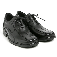 """Men 2.2"""" UP black real Leather increase height stitch Lace Up dress Shoes made in KOREA US 5.5 - 10"""