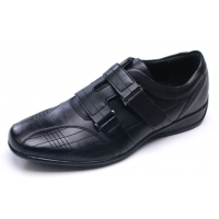 Mens one velcro strap stitch detail comfort wedge heel casual shoes made in Korea US 7 - 10.5