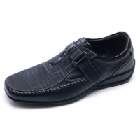 Mens U line stitch detail comfort velcro strap wedge heel casual shoes made in Korea US 7 - 10.5