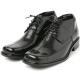 """Men 2.6"""" UP black real Leather increase height stitch Lace Up dress Shoes made in KOREA US 5.5 - 10"""