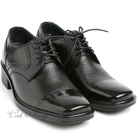 "Men 2.75"" UP black real Leather increase height stitch Lace Up dress Shoes made in KOREA US 5.5 - 10"