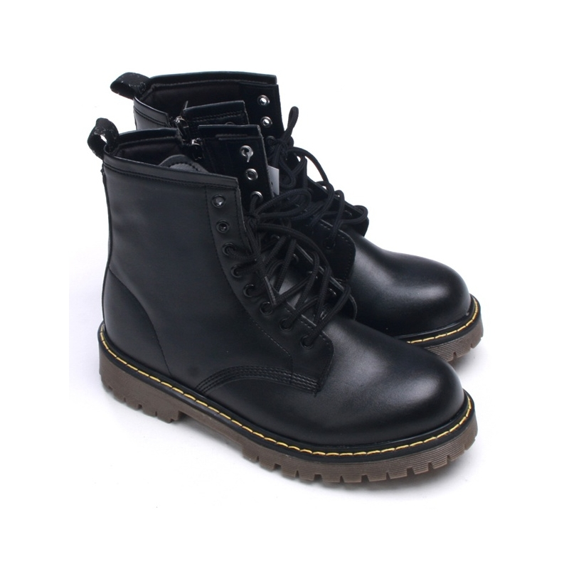 Womens chic combat ankle boots