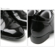 "Men 3.15"" UP black real Leather increase height Lace up Shoes made in KOREA US 5.5 - 10"