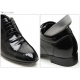 """Men 3.2"""" UP black real Leather increase height punching Lace up Shoes made in KOREA US 6.5 - 10"""