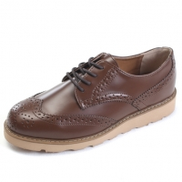 Mens wing tip punching contrast stitch wedge heels oxfords increase height hidden insole elevator dress shoes